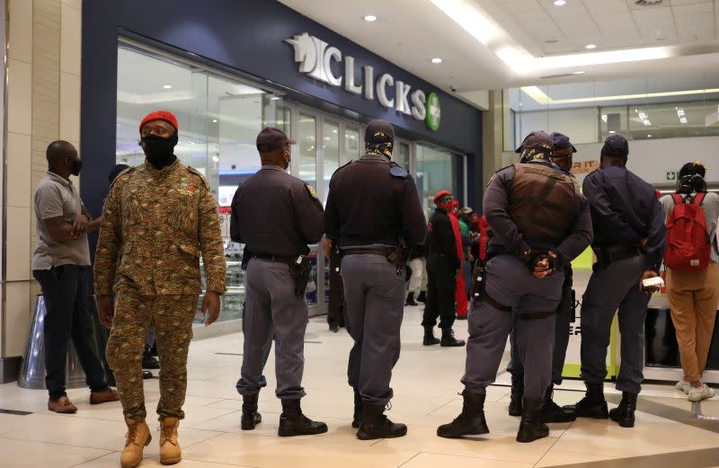Seven of South African retailer Clicks' stores damaged in protests over 'racist' ad