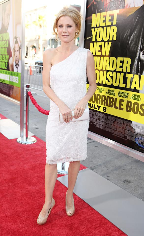 "<a href=""http://movies.yahoo.com/movie/contributor/1800253184"">Julie Bowen</a> at the Los Angeles premiere of <a href=""http://movies.yahoo.com/movie/1810161382/info"">Horrible Bosses</a> on June 30, 2011."