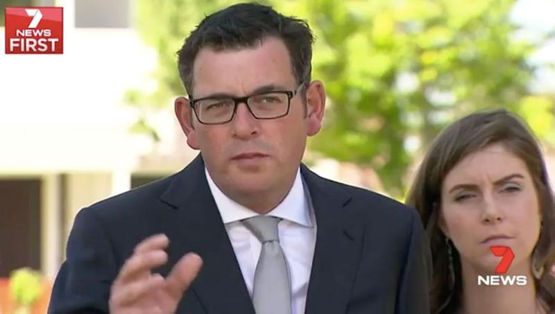 Premier Daniel Andrews is promising to put more protective services officers on train stations. Source: 7 News