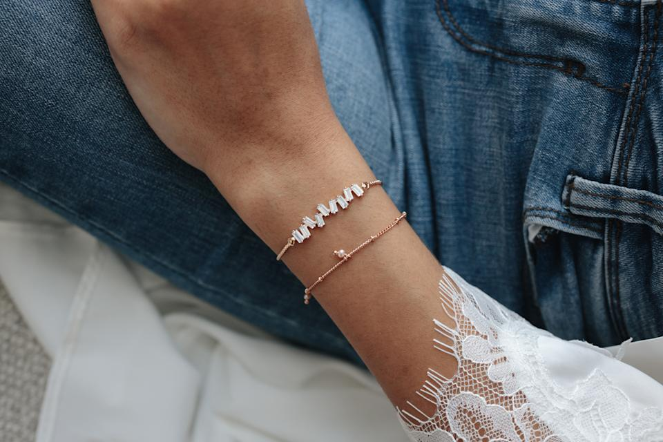 Rose Gold Bracelet Stack. (PHOTO: By Invite Only)