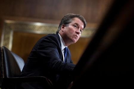 Judge Brett Kavanaugh testifies during the Senate Judiciary Committee hearing on his nomination be an associate justice of the Supreme Court of the United States, on Capitol Hill in Washington, DC, U.S., September 27, 2018. Tom Williams/Pool via REUTERS