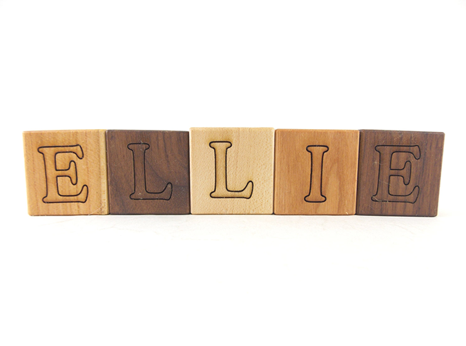 "<p>Such a classy take on the ubiquitous monogram gift.</p> <p><a rel=""nofollow"" href=""https://www.etsy.com/listing/100481912/personalized-wood-name-blocks-alphabet""><em>Bannor Toys</em></a><em> ($3 for one)</em></p>"