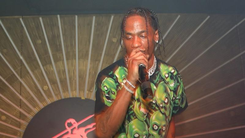 New Dad Travis Scott Performs During NBA All-Star Weekend