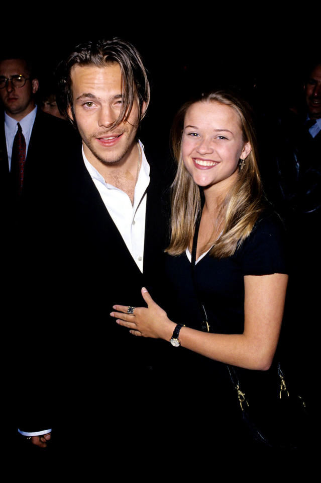 <p>The following year Reese attended the <em>Backbeat</em> premiere in Hollywood with its star Stephen Dorff. The two worked together on the film <em>S.F.W.</em> released that same year.<br />(Photo: Getty Images) </p>
