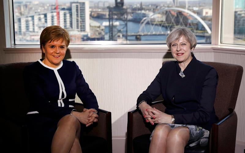 Mrs May is understood to have dictated the terms of the meeting with the Scottish First Minister in Glasgow on Monday - Russell Cheyne/PA