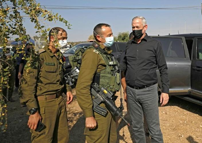 "The Israeli defence minister and alternate prime minister, Benny Gantz, said on Tuesday he was ""hearing positive voices coming out of Lebanon, who are even talking about peace with Israel"""
