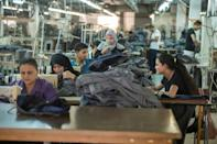 Tailors work at the Marie Louis factory, where long-fibre Egyptian cotton is used to produce high quality clothing for sale in France, Italy and Egypt