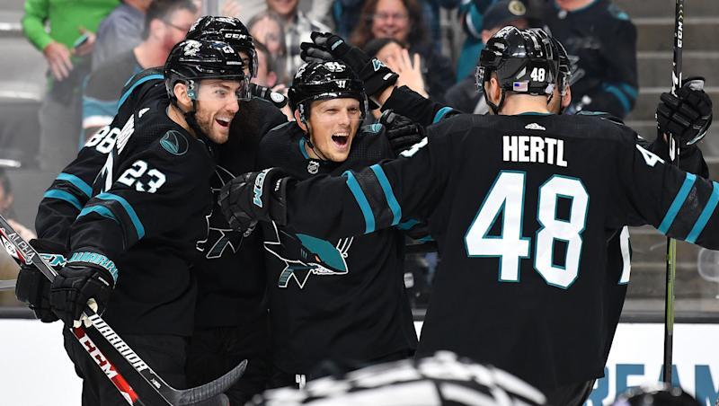 Radim Simek is getting a lot of credit for the San Jose Sharks' turnaround. (Brandon Magnus/NHLI via Getty Images)