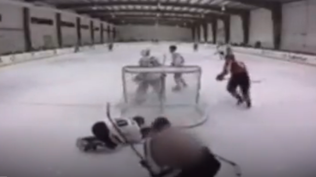 """A Texas teenager delivered two nasty slashes to an opponent's back and has been suspended indefinitely by USA Hockey. ( <a href=""""https://www.wfaa.com/article/news/watch-teen-suspended-from-usa-hockey-play-after-nasty-attack-during-game/287-623040691"""" rel=""""nofollow noopener"""" target=""""_blank"""" data-ylk=""""slk:via"""" class=""""link rapid-noclick-resp"""">via</a> WFAA.com)"""