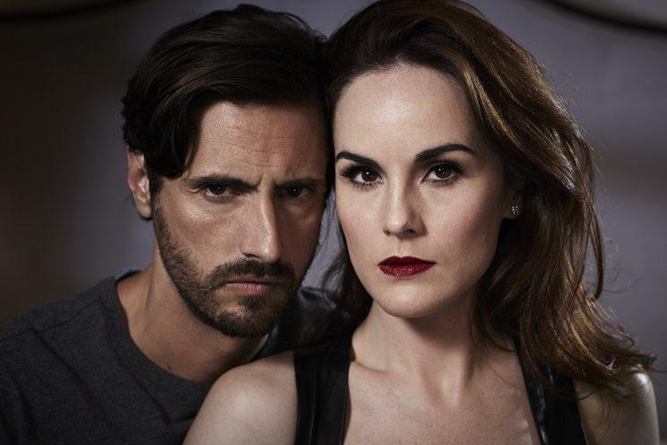 Juan Diego Botto and Michelle Dockery (Photo: TNT/Good Behavior)