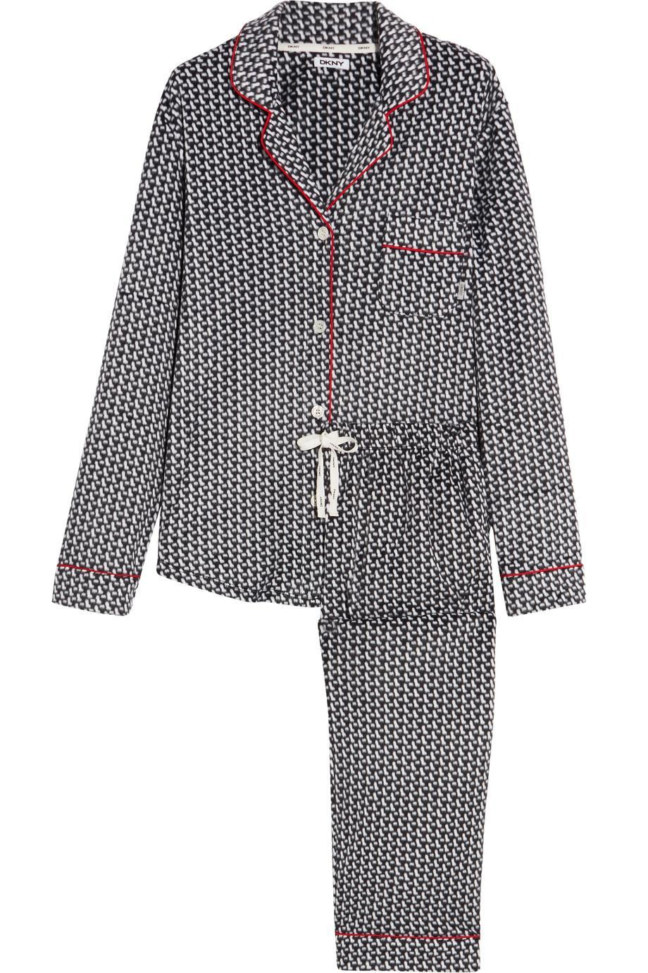 <p>Made from cosy velour, these monochrome print PJ set are perfect for slouching around in in style this Christmas. </p>