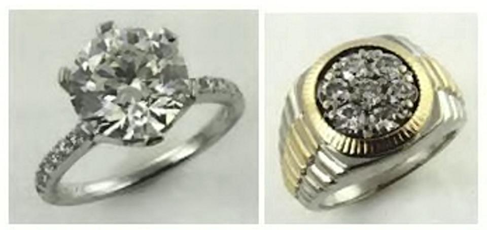 The possessions included a diamond ring which netted £13,433 (SWNS)
