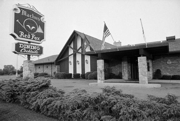PHOTO: Machus Red Fox restaurant in Bloomfield Township, Mich., is pictured circa August 1975. Jimmy Hoffa was last seen standing outside the restaurant on July 30, 1975. (Bettmann Archive via Getty Images, FILE)