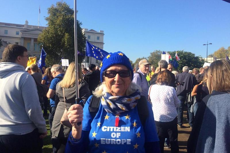 Pauline Korda came from Oxford for the march
