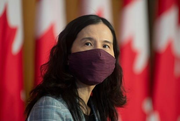 Chief Public Health Officer Theresa Tam looks on at the start of a technical briefing on the COVID pandemic. (Adrian Wyld/Canadian Press - image credit)