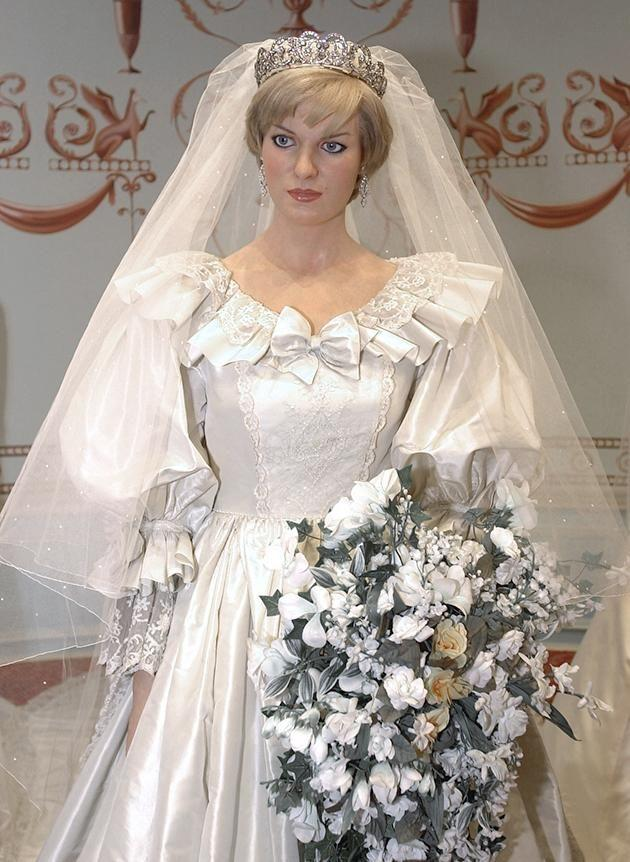 There was also a replica made of Diana's dress which is now in Madame Tussauds. Photo: Getty Images