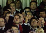 <p>William couldn't help but show his passion at this moment in the match between the British and Irish Lions and the New Zealand All Blacks in July 2005. (Getty Images)</p>