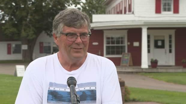 Rob Shaw, owner of Shaw's Hotel and Cottages in Brackley Beach, P.E.I., says late August is looking good for his business.  (Brian Higgins/CBC - image credit)
