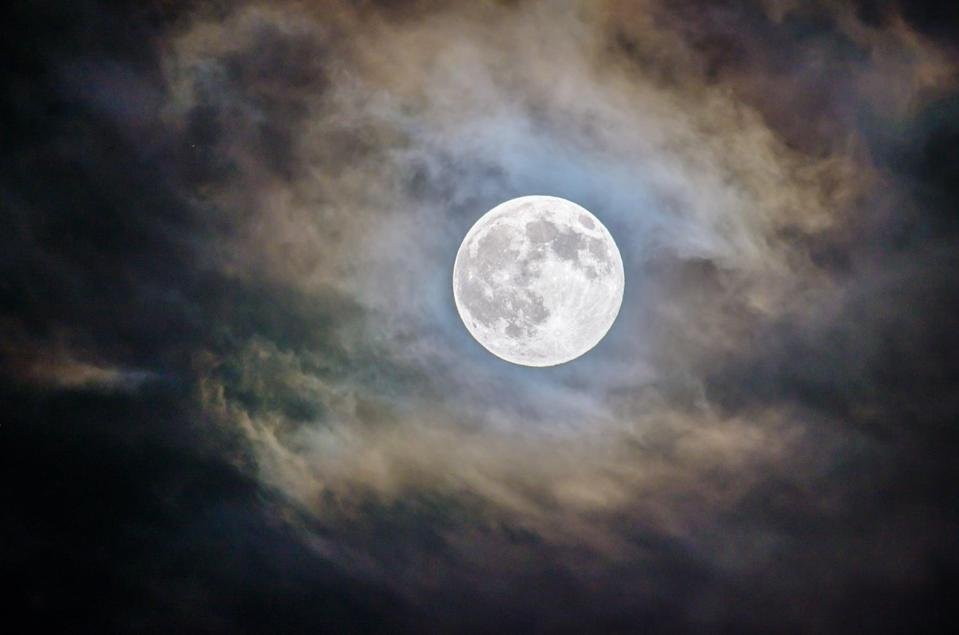 <p>Wondering when the moon will be at its fullest, brightest point in 2021? This year, full moons will occur on Jan. 28 (wolf moon), Feb. 27 (snow moon), March 28 (worm moon), April 27 (pink moon), May 26 (flower moon), June 24 (strawberry moon), July 24 (buck moon), Aug. 22 (sturgeon moon), Sept. 20 (corn moon), Oct. 20 (hunter's moon), Nov. 19 (beaver moon), and Dec. 19 (cold moon). This lunar phase is caused by the moon facing the opposite side of the Earth as the sun, making it fully visible and bright. </p> <p>Supermoons, which will occur three times this year, happen when the moon is near its closest approach to the Earth, making it look even larger and brighter than usual. Look out for the Supermoons on April 27 (pink moon), May 26 (flower moon), and June 24 (strawberry moon).</p>