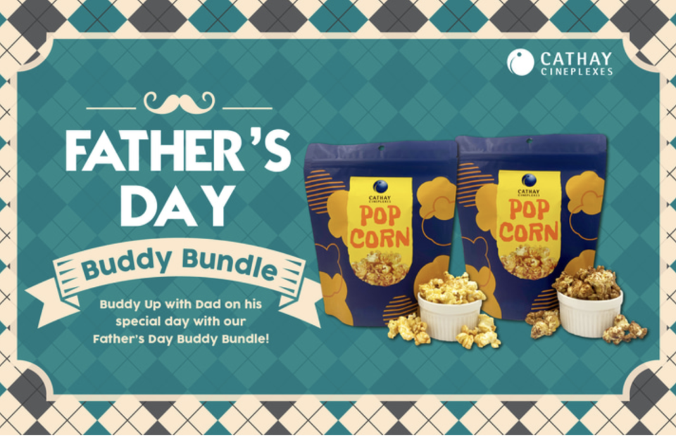 PHOTO: Klook. Cathay Cineplexes Father's Day buddy bundle