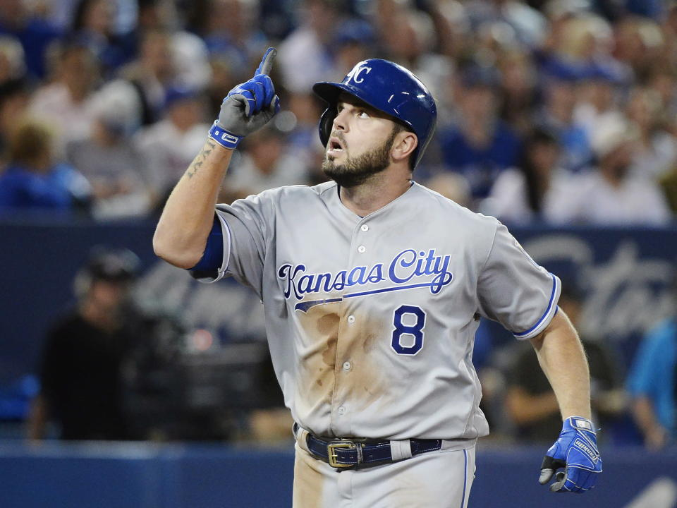 Yes, Mike Moustakas was forced to relent and take a one-year deal. (AP)