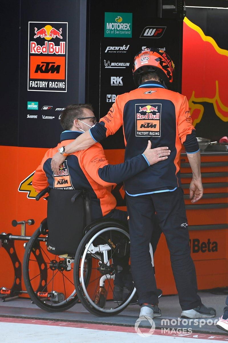 """Mike Leitner, Pit Beirer, Red Bull KTM Factory Racing<span class=""""copyright"""">Gold and Goose / Motorsport Images</span>"""