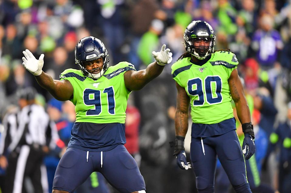 Jarran Reed took No. 91 after he sold his old No. 90 to new teammate Jadeveon Clowney last season. (Photo by Alika Jenner/Getty Images)