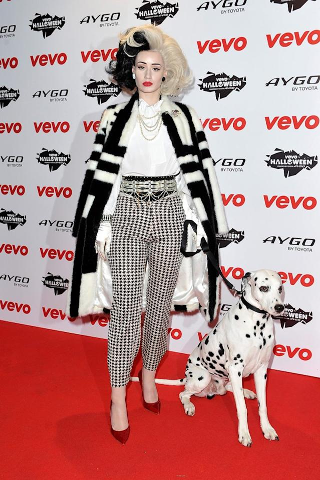<p>Iggy Azalea on Halloween 2013. Iggy Azalea's Cruella Deville costume may be the best we've ever seen, complete with a dalmatian. (Photo by Gareth Cattermole/Getty Images)</p>