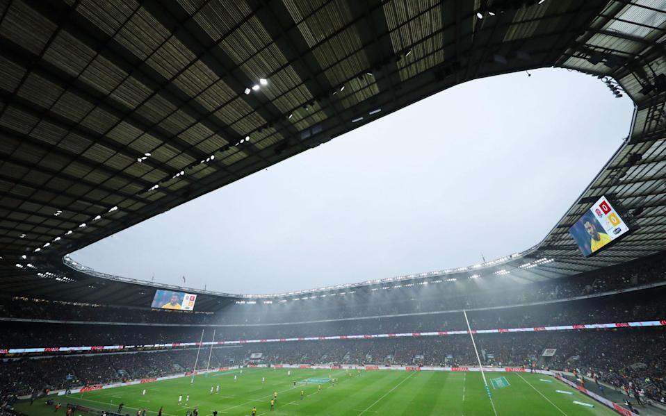 Twickenham stadium - RFU warned that financial cuts to English community rugby could cause 'complete car crash' - GETTY IMAGES