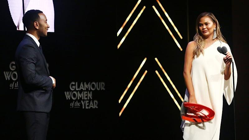 The model and TV personality spoke to ET after accepting the 'Glamour' Woman of the Year Award.