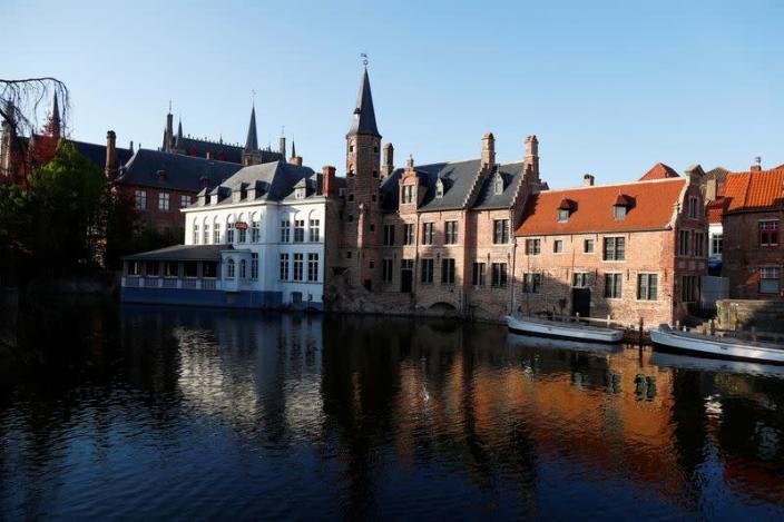 A view of the old town of Bruges amid coronavirus disease (COVID-19) outbreak