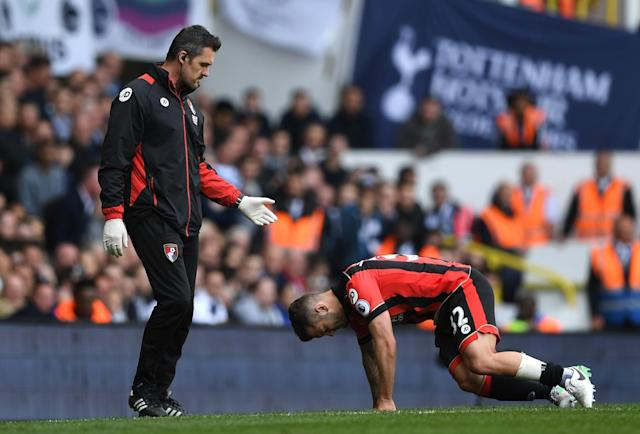 <p>Jack Wilshere suffered an injury and had to go off</p>