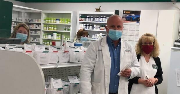 Pharmacist Greg MacFarlane of Ryan's Pharmacy in Nackawic says he's received enough vaccines so far for everyone in the eligible age groups.