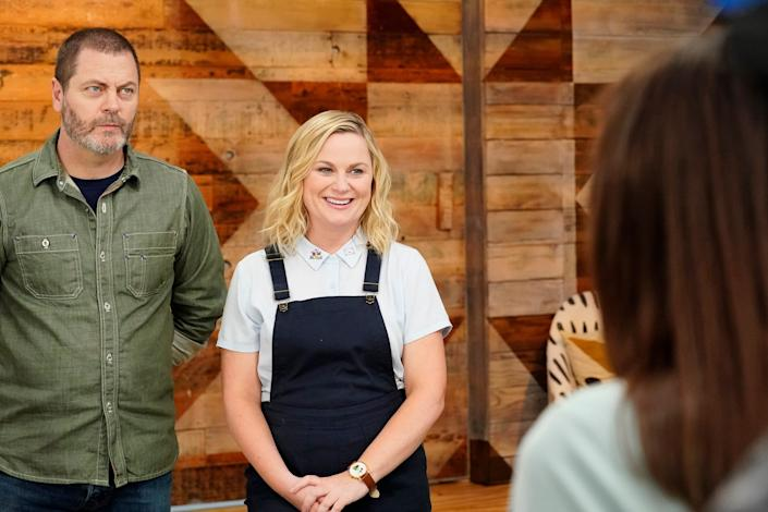 "<h1 class=""title"">Making It - Season 2</h1> <div class=""caption""> Nick Offerman and Amy Poehler are the hosts of <em>Making It.</em> </div> <cite class=""credit"">Photo: Evans Vestal Ward/NBC/NBCU Photo Bank via Getty Images</cite>"