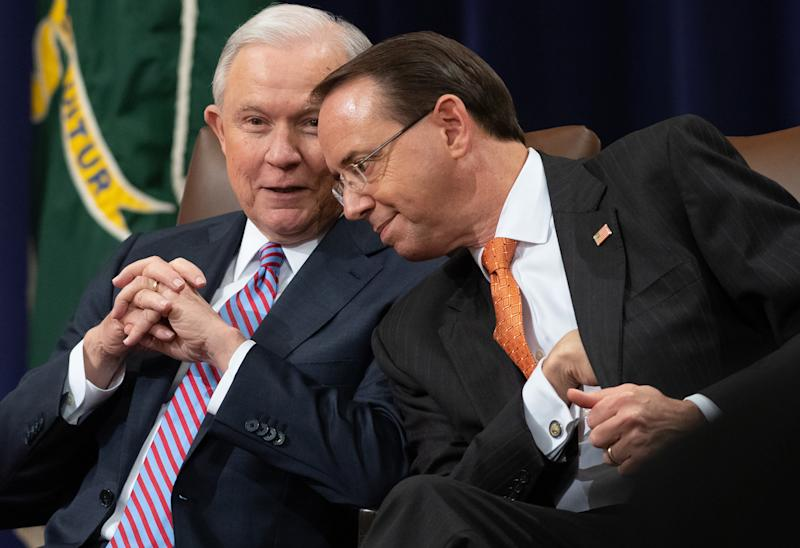Rod Rosenstein became the top Justice Department official overseeing Mueller's investigation after Attorney General Jeff Sessions recused himself from the matter. (Saul Loeb/Getty Images)