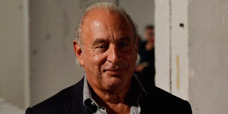 Sir Philip Green attends the TopShop Spring/Summer 2018 show at London Fashion Week in London, Britain September 17, 2017.