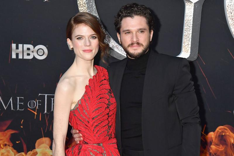 NEW YORK, NY - APRIL 03: Rose Leslie and Kit Harington attend the