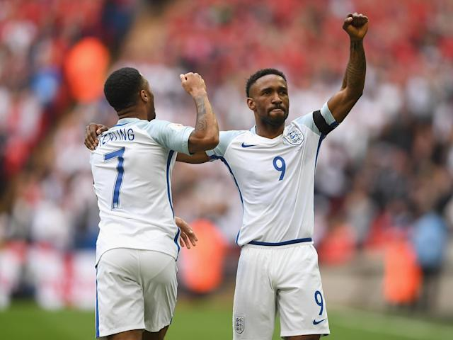 Jermain Defoe converted Raheem Sterling's cross to open the scoring: Getty