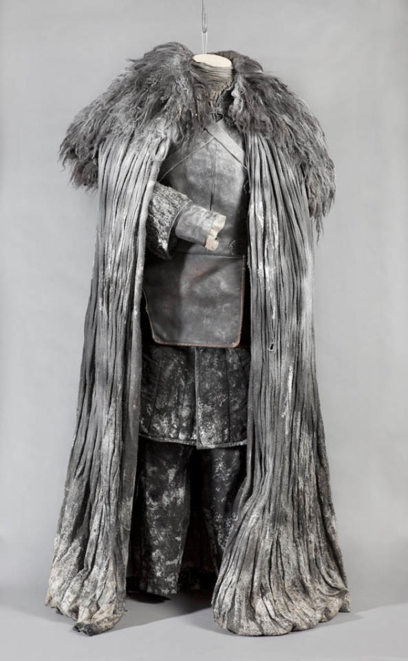 "Jon Snow's costume from ""Game of Thrones."""