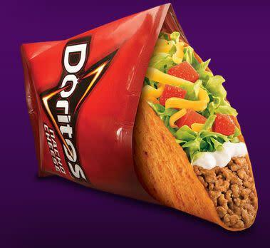 Perhaps Doritos Locos tacos are the most well-known hybrid food. The Doritos taco shells have caught the fast food world by storm and they have been one of Taco Bell's most successful products ever.