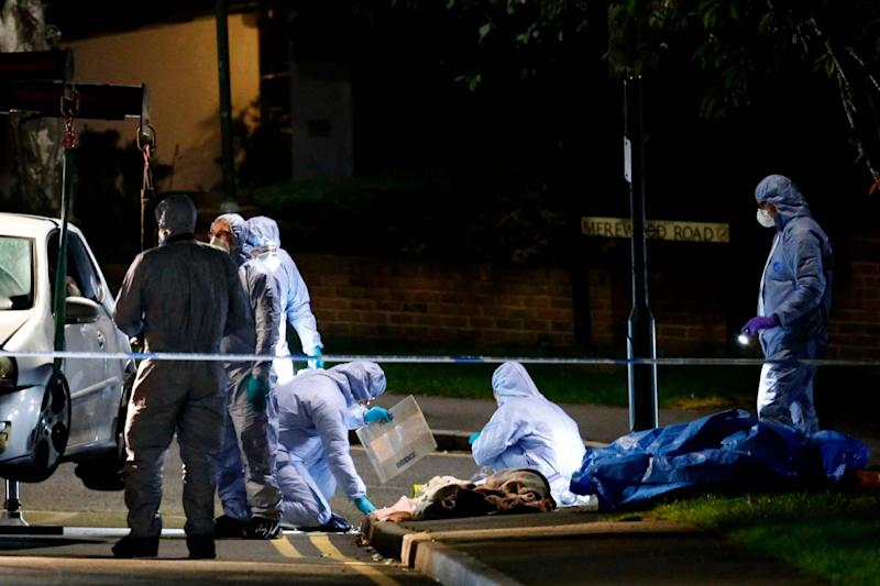 Forensic officers in Barnehurst Avenue, Bexley (Nigel Howard/Evening Standard)