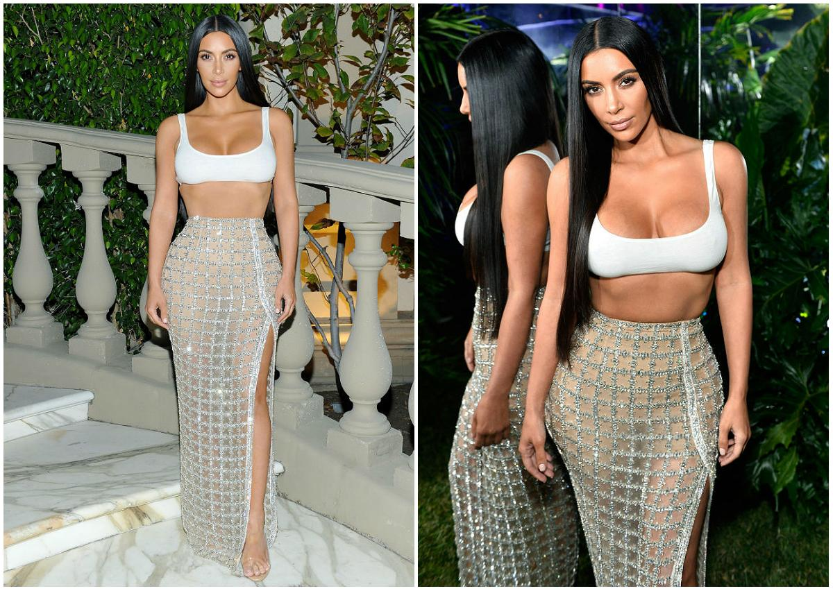 <p>When: July 20, 2017 Kim Kardashian stunned in a waist-fitted, high-slit sheer skirt at the Balmain LA boutique opening on Thursday night, simply proving that she looks more stunning as each year goes by. But even in a sultry, see-through mesh number, the 36-year-old made sure all eyes were on her incredibly toned abs. She bared her tummy in a short white bra top and allowed her signature Rapunzel locks flow loosely around her face. With her skin glowing in health, the overall effect was almost angelic, don't you think? (Photos: Getty) </p>