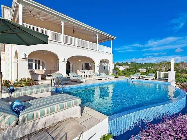 This four bedroom,four-and-a-half bathroom villa sleeps eight, and includes an infinity pool, resort amenities, housekeeping and free beach shuttle. <span>Check it out</span>.