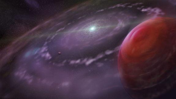 Giant Alien Planet in Supersized Solar System May Solve Mystery