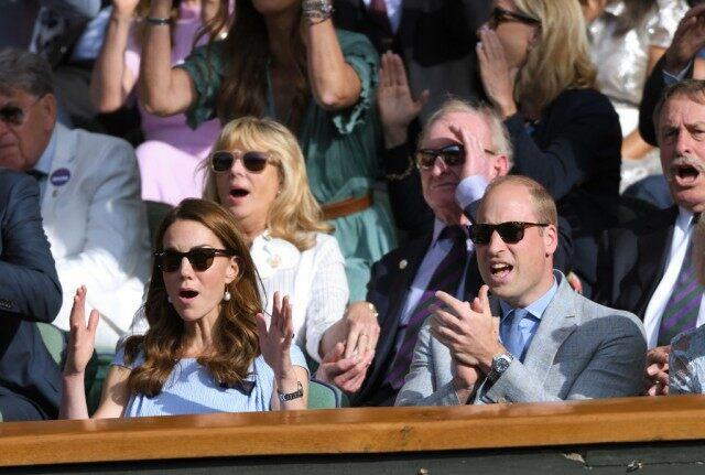 The royal appeared to have a blast as she and Prince William watched Novak Djokovic go head-to-head with Roger Federer.