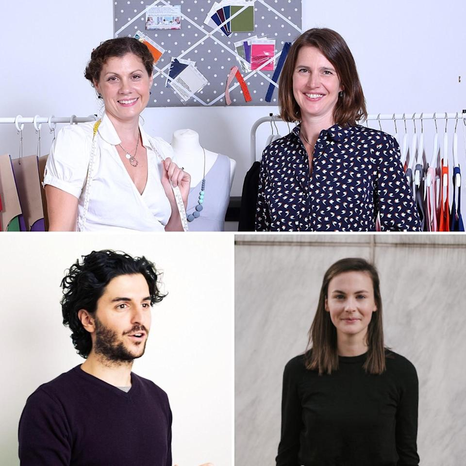 Winners: Lisa Lessaware and Philippa Doyle at The Bshirt. Michael Kasimatis at Blakbear and Harriet Boland at The Economist Educational Foundation