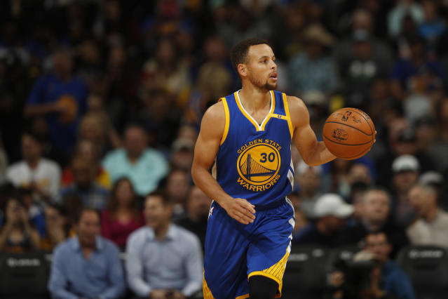 The Warriors will wear similar home/road jerseys to last year's, but will also cycle through new alternate looks. (AP Photo)