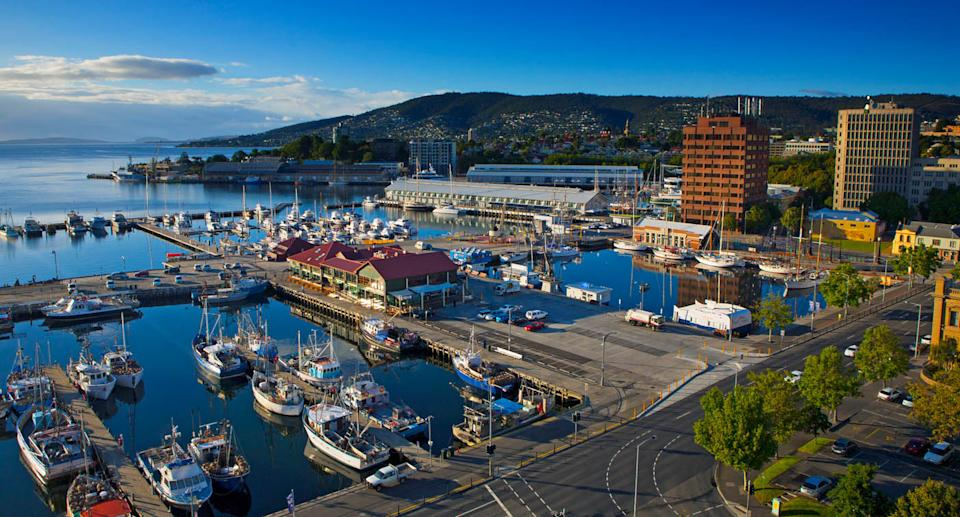 Constitution Dock, Hobart, is pictured.
