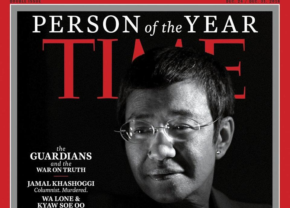 """The cover for Time magazine """"Person of the Year"""" edition in 2018"""