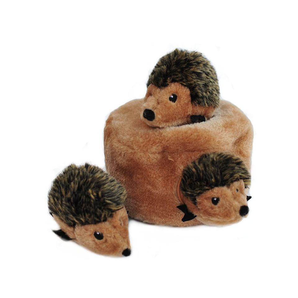 "<p>Sometimes it's all about the basics. Ideal for small and medium dogs, this plush puzzle will challenge pets and keep them busy while they find those squeaky hedgehogs.<br /><strong><a rel=""nofollow"" href=""https://fave.co/2PycdPj"">Shop it</a>:</strong> $8, <a rel=""nofollow"" href=""https://fave.co/2PycdPj"">chewy.com</a> </p>"